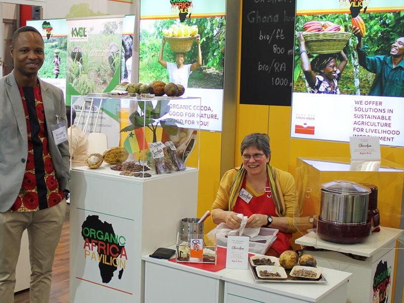 Foto: Kakaoanbau und Schokolade, Organic Africa Pavillion, © foodfibel.de