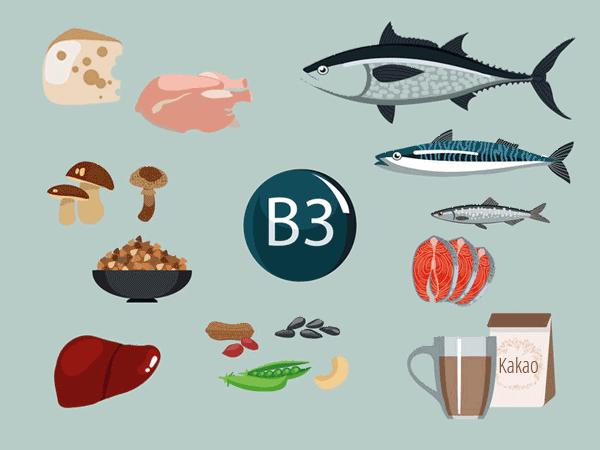 Vitamin B3 in Lebensmitteln. © Olga Sadovnikova 123rf.com.