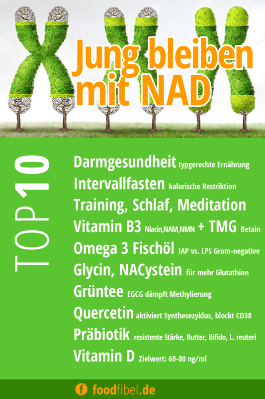 Jung bleiben mit NAD, die Checkliste. © foodfibel.de.